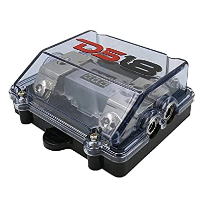 DS18 FDG1024ANLDIG ANL Fuse Holder and Distribution Block 1 x 0/4GA in - 2 x 4/8GA Out with Built in Voltmeter : Car Electronics