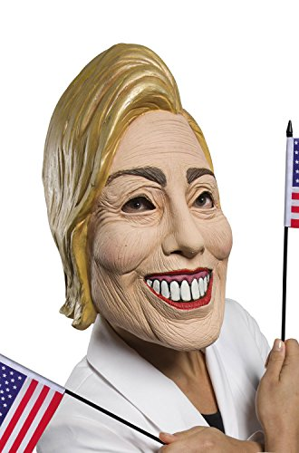 Rubie's Women's Famous Faces Political Mask Hillary, As As Shown One -