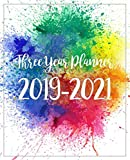 Three Year Planner 2019-2021: Monthly Schedule Organizer - Agenda Planner For The Next Three Years, 36 Months Calendar January 2019 - December 2021 | Happy Watercolor Design