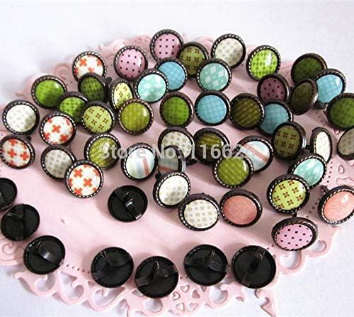 Amazon.com: Zereff 12Mm Vintage Plated Decorative Epoxy Brads Scrapbooking/Gift/Papercrafts Handmade Embellishments100Pcs/Lot