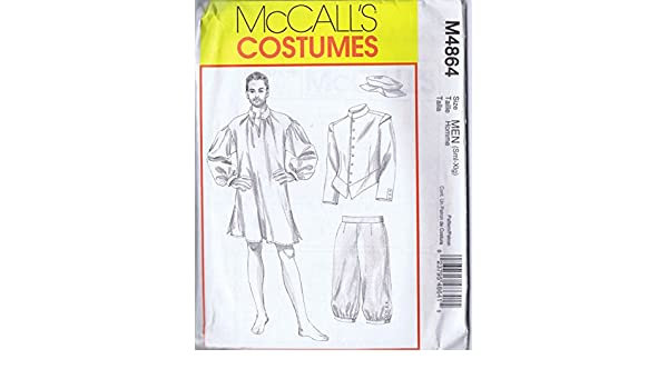 Amazon.com: OOP McCalls Costume Pattern M864. Mens Szs S,M,L,Xl Colonial Costumes Including Jacket Shirt Pants & Cap: Arts, Crafts & Sewing