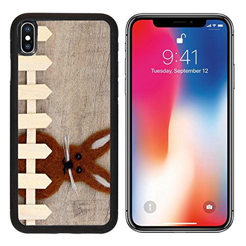 MSD Premium Apple iPhone X Aluminum Backplate Bumper Snap Case IMAGE ID 35575411 Easter bunny