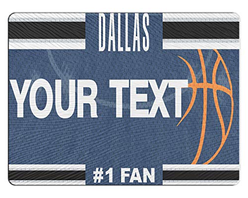 BRGiftShop Personalized Custom Basketball Team Dallas 11x15 Glass Cutting Board