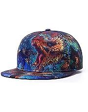 3D printing fine dragon pattern Snapback Baseball Hip- Hop Cap Hat