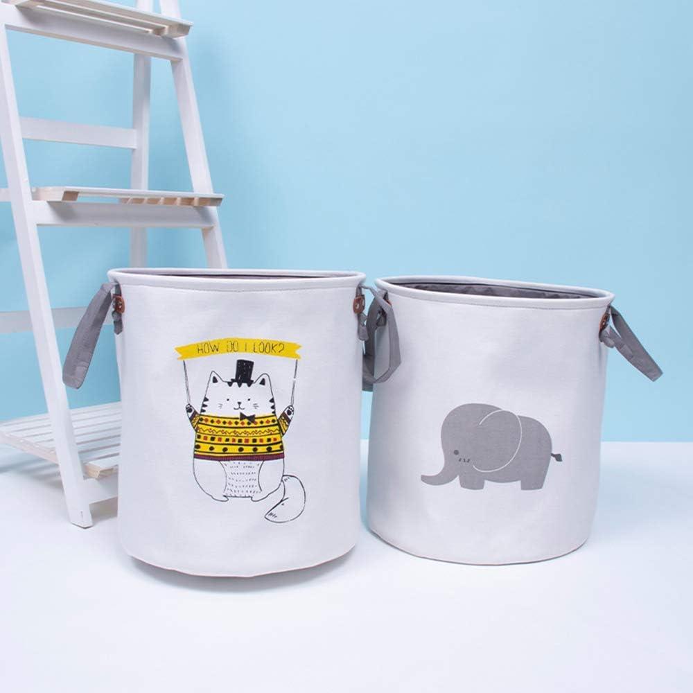 MissZZ Bac de Rangement Pliable pour Salon étage pépinière décor Panier à Linge bébé Jouet Stockage conteneurs de Stockage à Domicile Elephant