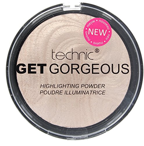 (TECHNIC GET GORGEOUS HIGHLIGHTER Shimmer Compact Highlighting Shimmering Powder by Technic)