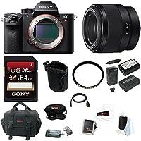 Sony Alpha a7RII Mirrorless Digital Camera w/50mm Lens Bundle