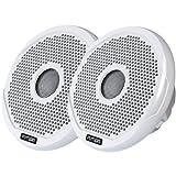 FUSION 4'' Round 2-Way IPX65 Marine Speaker - 120W - (Pair) White