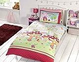 Garden Mushroom Butterfly Red Green Blue Kids Childrens Boys Girls Single Bed Size Duvet Cover Hallways Ã'Â by Hallways