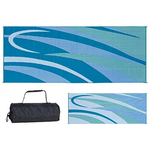 Ming's Mark GC3 Blue/Green 8-Feet x 20-Feet Graphic Mat (Your Patio)