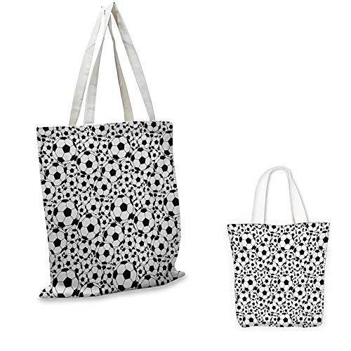 Soccer,Wholesale Shopping Bag Monochrome Design Pattern of Classical Football Balls Kids Boys Cartoon Pattern Gift Bag for Home Black White 16.5