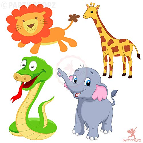 Party Propz 4Pcs Jungle Theme Cardstock Cutout for Birthday Party Decoration / Birthday Party Supplies. Price & Reviews