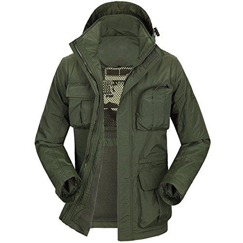 ZHEN Outdoor-Venture Jacke Warm Mountaineer Herren Jacke mit Taschen