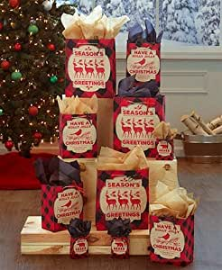 40-Pc. Holiday Gift Bag Set