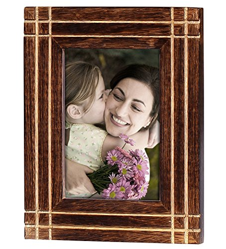 SouvNear Wooden Picture Frame 7x5 - Photo Frames for Horizontal and Vertical Pictures - Living Room Essentials - Home Table - Picture Friend Frame Wooden