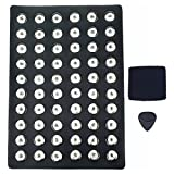 Soleebee Alloy Leather 60pcs 18mm Snap Buttons Jewelry Charms Display Board (Black)