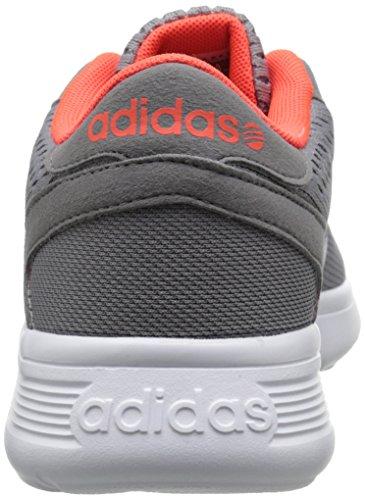 Scarpa Da Tennis Adidas Neo Mens Lite Racer Engineered Grigio / Bianco / Rosso Solare