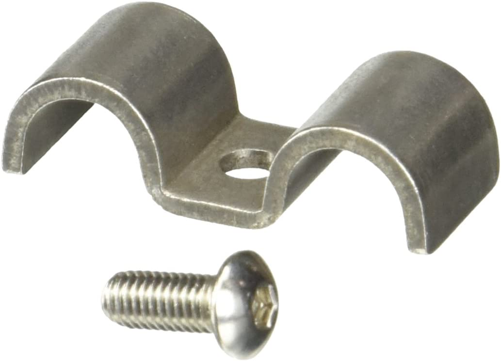 Helix 11101 3//8 Stainless Steel Single Line Clamp 12 Pack