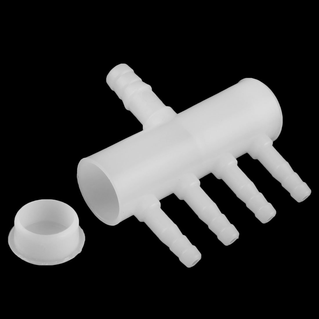 Amazon.com : eDealMax Blanca acuario de plástico 4 Tomas de oxígeno controlador de flujo Distribuidor palanca de la válvula 5pcs : Pet Supplies