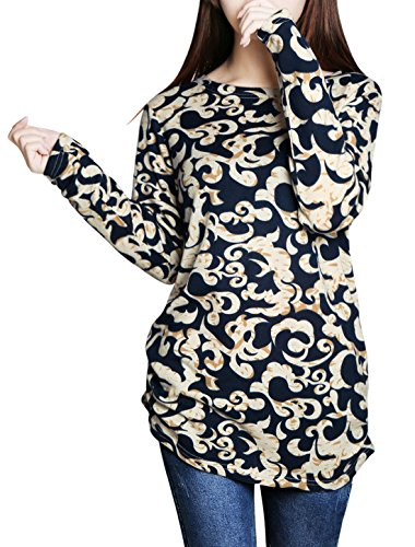 allegra-k-ladies-novelty-prints-long-sleeves-pullover-tunic-knit-top-l-beige