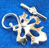 lg c299 - 5Sets Plated LG LEAF Toggle Clasps Connectors Hooks Findings C299 DIY Crafting Key Chain Bracelet Necklace Îewelry Accessories Pendants