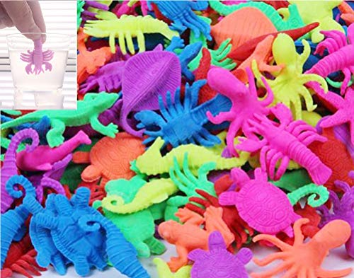 9Snail Water Growing Dinosaur, cartoon, animals, Sea Creatures | Bag of 48 pcs. | 1.5 inch - Assorted colors and styles | Expandable Mix Creatures Fun In The Bathtub Garden Pool Or Fountain