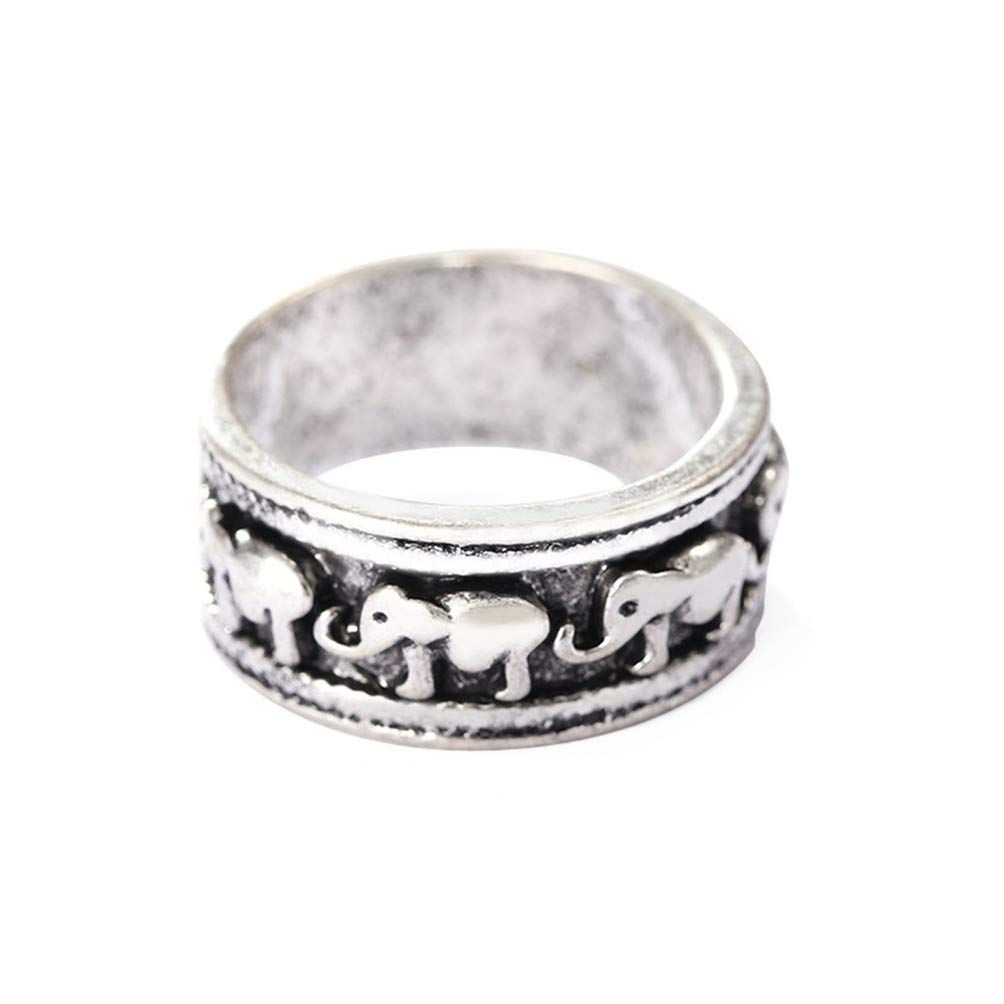 Eightgo Retro Classic Elephant Pattern Ring Jewelry Gift for Men Women(Size 10) by Eightgo (Image #1)