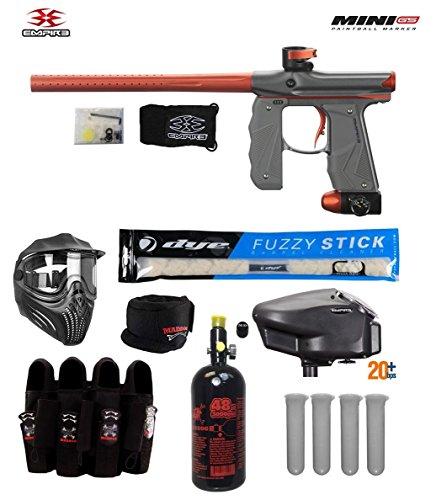 Empire Mini GS Tournament Elite Paintball Gun Package B - Dust Grey/Orange -
