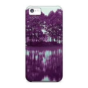 Excellent Design Purple Lake Phone Case For Iphone 5c Premium Tpu Case