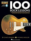 img - for 100 Rock Lessons - Guitar Lesson Goldmine Series Book & Online Audio book / textbook / text book