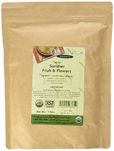 Davidson's Tea Bulk, Caffeine Free, Summer Fruit & Flowers, 16-Ounce Bag (Summer Leaf)