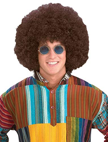 Forum Novelties Men's Jumbo Afro Hippie Costume Wig, Brown, One Size -
