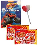 pickle sucker - Blaze And The Monster Machines 32 Valentines Cards With Heart Swirl Lollipops Classroom Exchange for 32 Kids