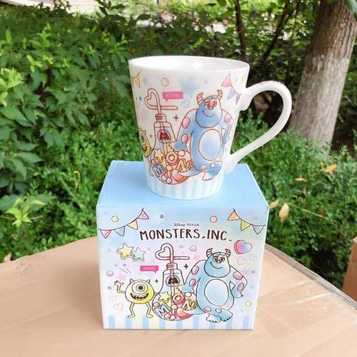 Cartoon Stitch Scump Chip Monster Toy Lotso Oso de fresa Alien Porcelana Cerámica Té Taza de café Tazamonstruo con caja