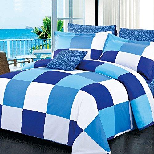 North Home 4 Piece Park Navy 100% Cotton Duvet Cover Set, Tw