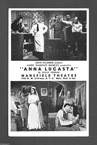 "Canada Lee""ANNA LUCASTA"" Rosetta LeNoire/Georgia Burke 1944 Broadway Promo Postcard"