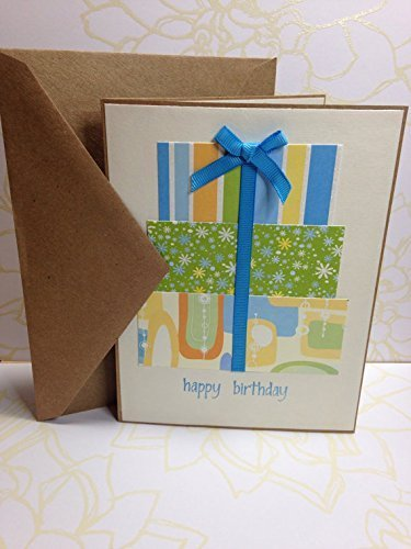 Amazon Hand Stamped Birthday Card With Glitter Accented Gift