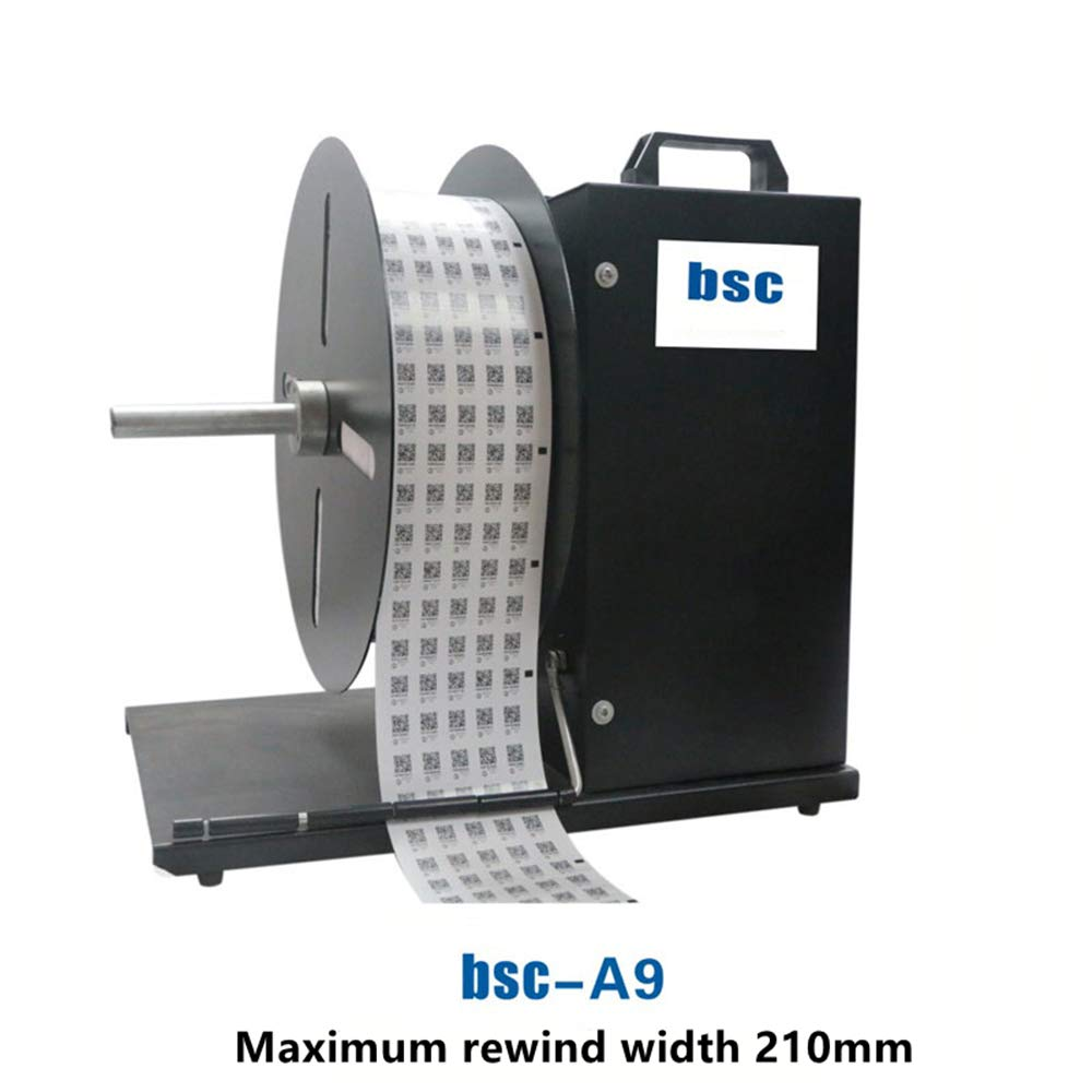 Hanche Label Rewinder Automatic Sticker for Barcode Printer Self-Adhesive Rewind Machine 10inch//s Unidirectional Rewind Automatic Rewind BSC A7 150mm
