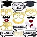 No Diy Graduation Photo Booth Props Shiny Foil Printing Pre Assembled Graduation Party Supplies 2020 Graduation Party Decorations Class Of 2020 Decor 2020 Graduation Decorations 17 Ct