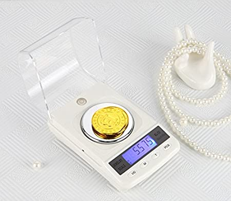 CGOLDENWALL Báscula Electrónica de Alta Precisión, 50 g/0,001 g, Báscula de Cocina Mini Balanza Portátil Balanza de Pesa Oro Balanza Mg: Amazon.es: Hogar