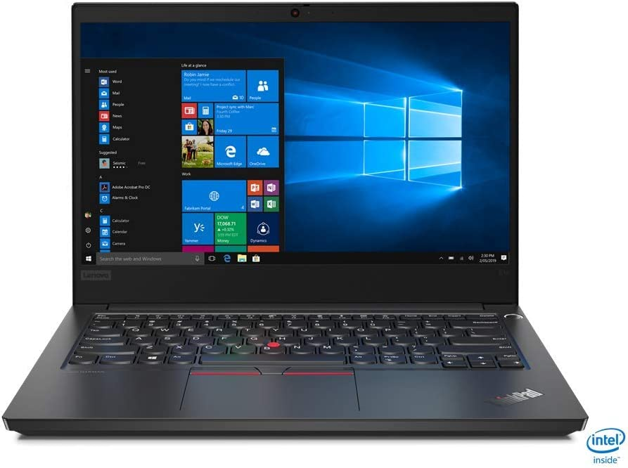 Lenovo ThinkPad E14 Laptop, Intel Core i7-10510U, 8GB RAM, 256GB SSD, Windows 10 Pro 64 Bit, Intel UHD Graphics (20RA0050US)