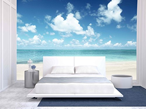 wall26 Sand of Beach Caribbean Sea - Removable Wall Mural | Self-adhesive Large Wallpaper - 100x144 (Caribbean Wall Mural)