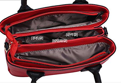Bandoulière Sac Grande Simple Nouveau Fashion Bandoulière À Sac À Red Sac Capacité À Noir Meaeo Bandoulière tva8XqX