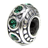 Sterling Silver Simulated May Birthstone European Style Bead Charm
