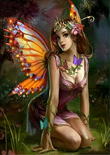 (DIY 5D Diamond Painting by Number Kits, Crystal Rhinestone Diamond Embroidery Paintings Pictures Arts Craft for Home Wall Decor (character6440, 40x30cm))