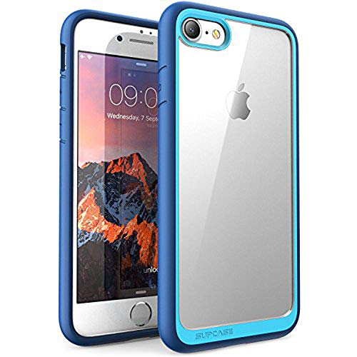 SUPCASE Unicorn Beetle Style Case Designed for iPhone 8 , Premium Hybrid Protective Clear Bumper Case [Scratch Resistant] for Apple iPhone 7 2016 / iPhone 8 2017 Release (Navy)