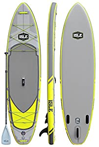 "ISLE Airtech Inflatable Explorer Stand Up Paddle Board (6"" Thick) iSUP Package 