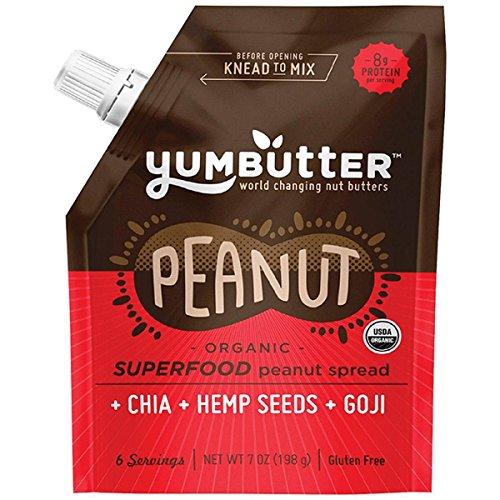 Yumbutter Superfood Peanut Butter, 7 oz