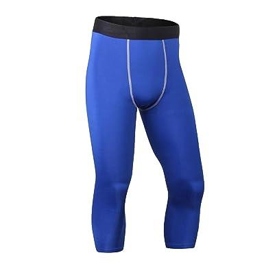ENCOCO Pantalones de compresión para Correr, 3/4 Capri Pantalones ...