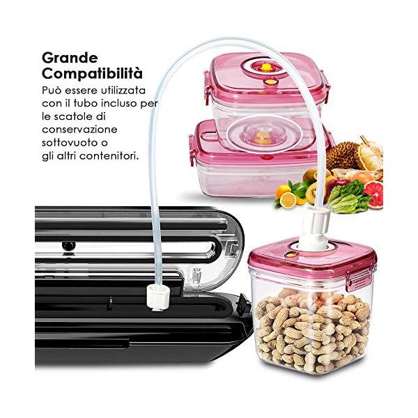 Macchina Sottovuoto per Alimenti Professionale LOFTER Sigillatrice Sottovuoto Automatica Portatile Vacuum Sealer… 4